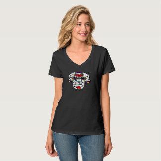 Camiseta T-shirt de sorriso do crânio do açúcar