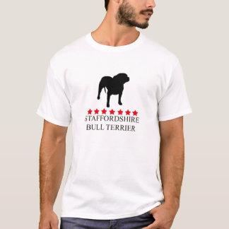 Camiseta T-shirt de Staffordshire bull terrier com estrelas