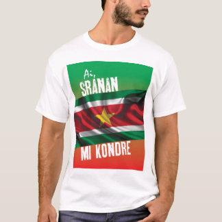 Camiseta T-shirt de Suriname com texto