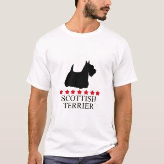 Camiseta T-shirt de Terrier do Scottish com estrelas