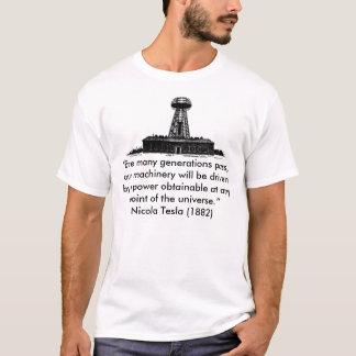 """Camiseta T-shirt de Tesla Wardenclyffe, """"antes dos muitos"""
