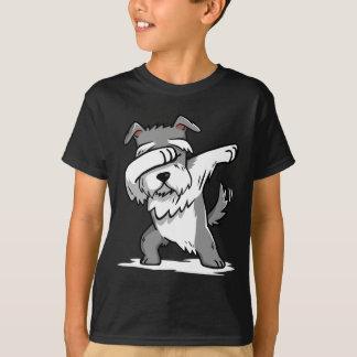 Camiseta T-shirt de toque ligeiro engraçado do Schnauzer