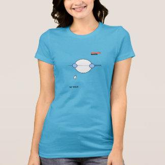 Camiseta T-shirt de uma regra de 180 graus