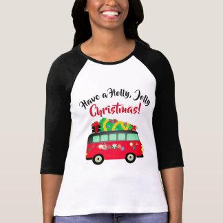 Camiseta T-shirt de Van de entrega da árvore de Natal