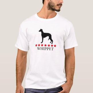 Camiseta T-shirt de Whippet com estrelas vermelhas