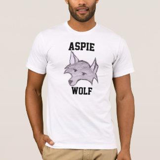 """Camiseta T-shirt de """"Wolfie"""" do lobo de Aspie"""