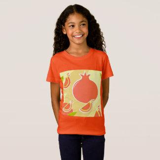 Camiseta T-SHIRT DELICADO DAS MENINAS: Laranja da romã