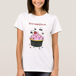 Camiseta T-shirt deliciosa da boneca do cupcake