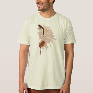Camiseta T-shirt derramado do café