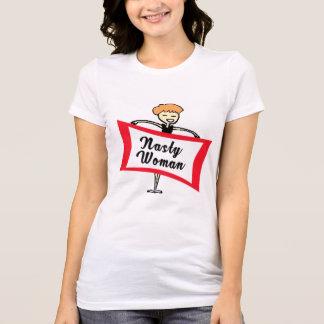 Camiseta T-shirt desagradável retro da mulher