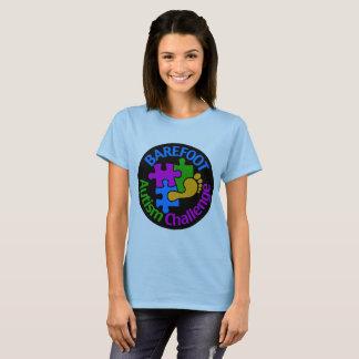 Camiseta T-shirt descalço do desafio do autismo 2018