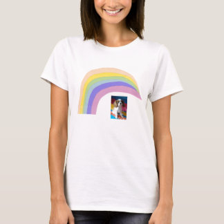 Camiseta T-shirt descuidado Blen do arco-íris do Spaniel de