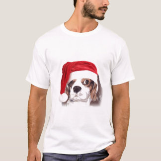 Camiseta T-shirt descuidado do papai noel do Spaniel de rei