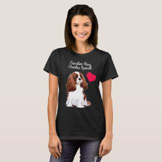 Camiseta T-shirt descuidado do Spaniel de rei Charles