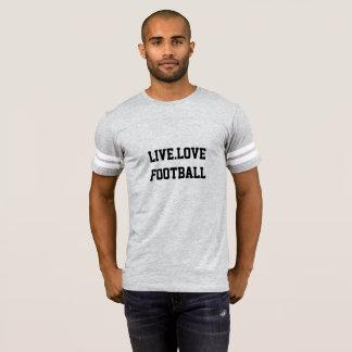Camiseta T-shirt desportivo das cinzas do futebol dos