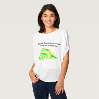 Camiseta T-shirt diamante interno sinfonia amarelo verde