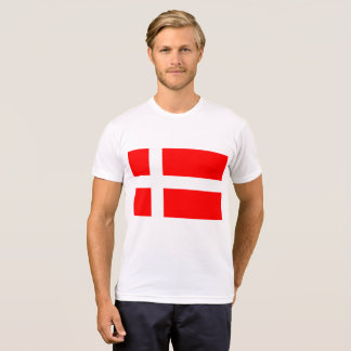 Camiseta T-shirt dinamarquês da bandeira