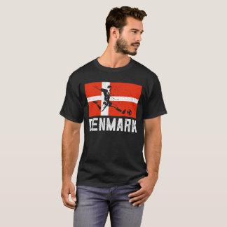 Camiseta T-shirt dinamarquês do estilo do grunge do jogador