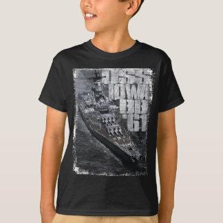 Camiseta T-shirt do ツョ do Hanes TAGLESS dos miúdos de Iowa