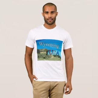Camiseta T-shirt do AA dos homens de Wyoming EUA