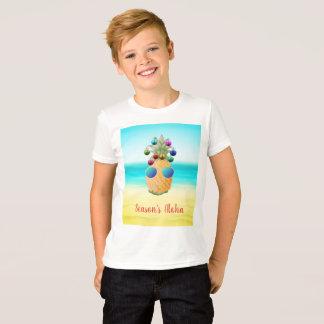 Camiseta T-shirt do abacaxi   do Natal da estação Aloha