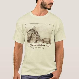 Camiseta T-shirt do adulto do roller coaster do ciclone