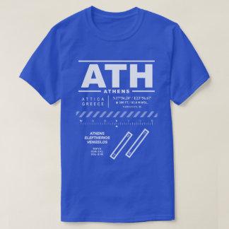 Camiseta T-shirt do aeroporto ATH de Atenas Eleftherios