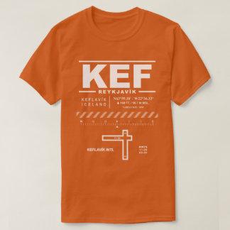 Camiseta T-shirt do aeroporto internacional KEF de Keflavík