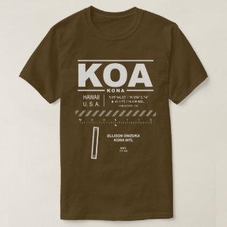 Camiseta T-shirt do aeroporto internacional KOA de Kona
