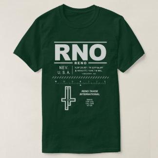 Camiseta T-shirt do aeroporto internacional RNO de Reno