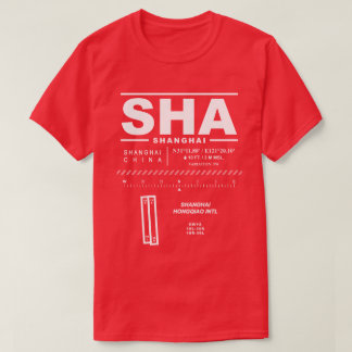 Camiseta T-shirt do aeroporto internacional SHA de Shanghai