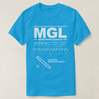 Camiseta T-shirt do aeroporto MGL de Mönchengladbach