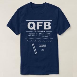 Camiseta T-shirt do aeroporto QFB de Freiburg Im Breisgau