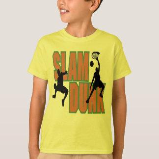 Camiseta T-shirt do afundanço do basquetebol dos miúdos