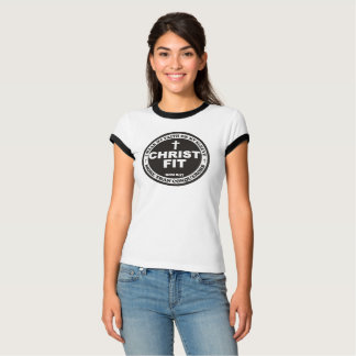 Camiseta t-shirt do ajustado do cristo do ladies'white com