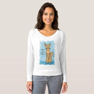 Camiseta T-shirt do amante do gato com subtítulo subtil