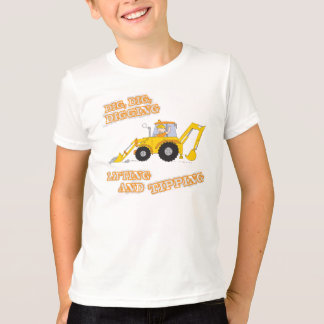Camiseta T-shirt do amarelo do trabalhador da construção