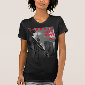 CAMISETA T-SHIRT DO AMOR DA CIDADE DE TORONTO, DESIGN DO
