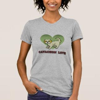 Camiseta T-shirt do amor de Cavachon