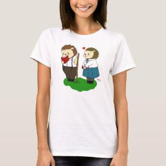 "Camiseta T-shirt do ""amor"" de Kolya e de Melaniya"