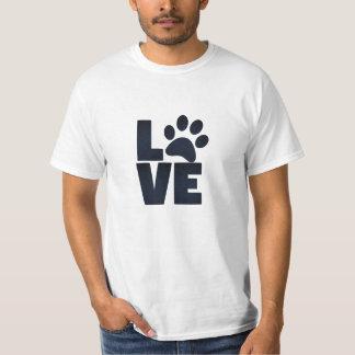 Camiseta T-shirt do amor do animal de estimação