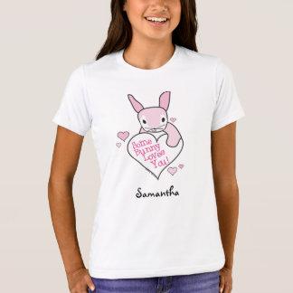 Camiseta T-shirt do amor do coelho