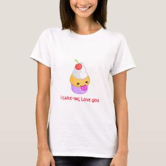 Camiseta t-shirt do amor do cupcake