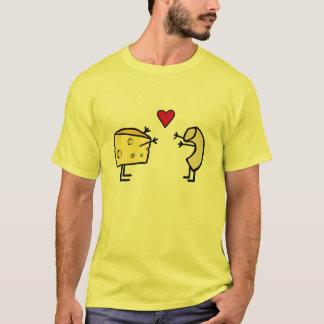 Camiseta T-shirt do amor do macarrão & do queijo
