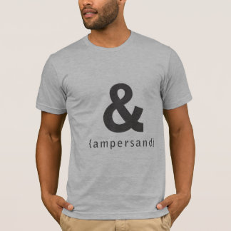 Camiseta t-shirt do ampersand [&]