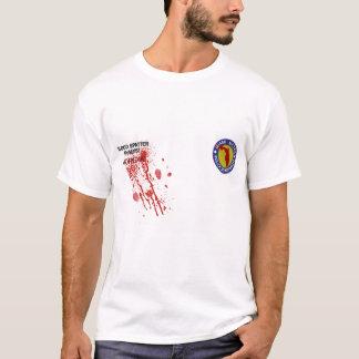 Camiseta T-shirt do analista do Spatter do sangue