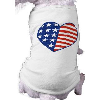 Camiseta T-shirt do animal de estimação do coração dos EUA