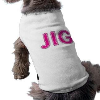 Camiseta T-shirt do animal de estimação do gabarito