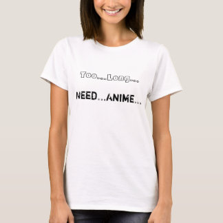 Camiseta T-shirt do Anime da necessidade