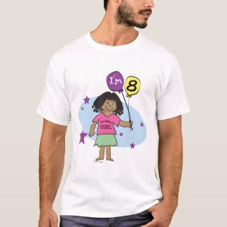 Camiseta T-shirt do aniversário das meninas 8o
